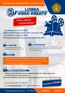 LOMBA VIDEO KREATIF UBHARA JAYA TAHUN 2020