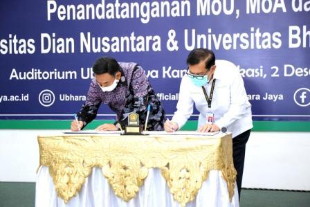 Sinergi Universitas Bhayangkara Jakarta Raya dan Universitas Dian Nusantara, Kerja sama Penerapan Program Merdeka Belajar – Kampus Merdeka dan Tri Dharma Perguruan Tinggi